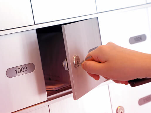 unlocking a private mailbox